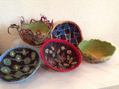 Fiber Artist Julia Maudlin's new small fiber bowl collection