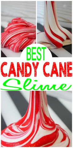 DIY Candy Cane Slime – How To Make Homemade Fluffy Peppermint Candy Cane Slime – Easy & Fun Recipe For Kids – Holiday Slime – Winter Activities – Party Favors - My Winter Break 2020 Homemade Slime, Homemade Candies, Diy Slime, How To Make Homemade, Cool Slime Recipes, Easy Slime Recipe, Diy Recipe, Slime Swirl, White Slime