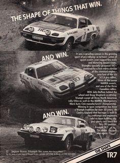 Triumph TR7 (British Leyland) Triumph Car, Rally Car, Race Cars, Classic Cars, Old Things, British, Racing, Childhood, Ads