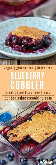 Easy Blueberry Cobbler | #vegan #homemade