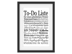 Originaldruck - Art Print Druck TO DO LISTE WINTER A 3 Motivation  - ein Designerstück von Interluxe bei DaWanda