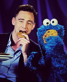 Tom Hiddleston + Cookie Monster...of course.