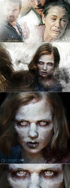 Talking Dead...Zombies Paint by Vlad Rodriguez, via Behance