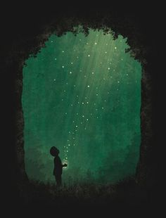 You would not believe your eyes, If ten million fireflies, Lit up the world as I fell asleep: