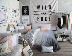 black and white bedroom ideas for teens | Posts related to Ten Black And White… (Diy Pillows For Teens)