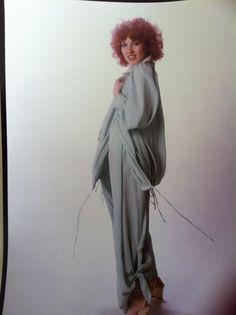 Bill Gibb, Dress, Ensemble, photographed by Mick Rock, 1977