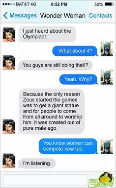 Texts From Superheroes : Photo Marvel Jokes, Marvel Funny, Funny Comics, Comic Book Heroes, Comic Books, Superhero Texts, Superhero Movies, Geeks, Nananana Batman