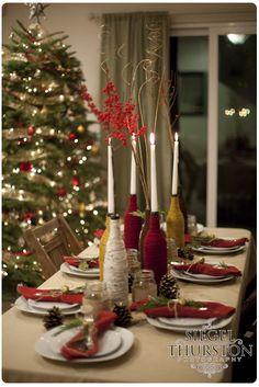 rustic inspired christmas dinner party Ashley Miller with Hall Events