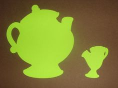 Beauty, Beast, Lumiere, Mrs. Potts + Chip silhouettes. More in her etsy shop.
