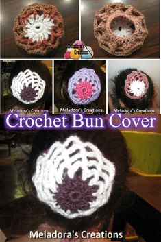 Meladora's Creations – Crocheted Hair Bun Cover – Free Crochet Pattern