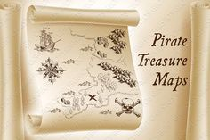 Pirate Treasure Maps and Map Kit