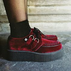 trainers sneaks sneakers grunge alternative fashion style creepers red velvet want love
