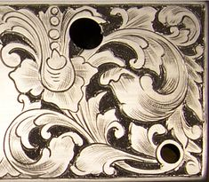 Acanthus Scroll engraving.