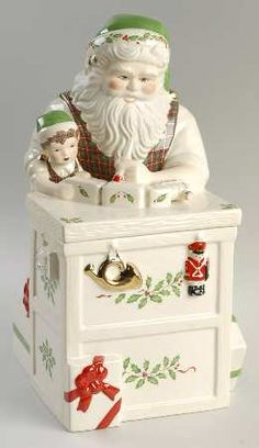 Santa Cookie Jar!  I Love the decorate my home during the Christmas Season and this would be Perfect for putting out and filling with Christmas Cookies!  Merry Christmas Cookie Jar!