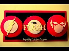 The Flash Cupcakes - a how to collaboration with CakesByChoppA - YouTube