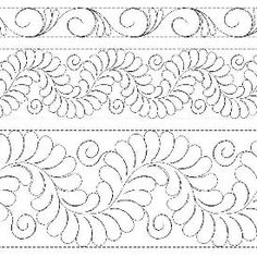 Feathers with Curliques Border/Sash Patterns