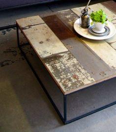 Custom table made with painted, reclaimed barn wood / Barnwood Naturals, LLC www.barnwoodnaturals.com