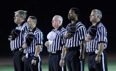 High School Football Official | Anthem, high school football game between Greenwich High School ... Friday Night Football, High School Football Games, Football And Basketball, Football Officials, Referee, Boards, Places, Planks, Lugares