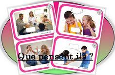 Que pensent ils ? Prepositions, Speech Therapy, Vocabulary, Literacy, Homeschool, Teaching, Blog, Kids, Place