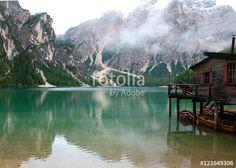 """Scarica l'immagine Royalty Free  """"Braies Lake on the Dolomiti Mountains"""" creata da LotusFlower al miglior prezzo su Fotolia . Sfoglia la nostra banca di immagini online per trovare la foto perfetta per i tuoi progetti di marketing a prezzi imbattibili!"""