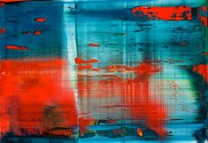 'Abstraktes Bild' (1999) by German artist Gerhard Richter (b.1932). Oil on Alu Dibond, 50 x 72 cm. via the painter's site