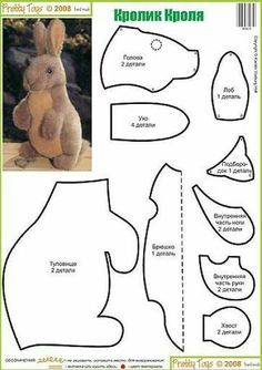 Amazing Home Sewing Crafts Ideas. Incredible Home Sewing Crafts Ideas. Plushie Patterns, Animal Sewing Patterns, Doll Patterns, Pattern Sewing, Pretty Toys Patterns, Bear Patterns, Sewing Stuffed Animals, Stuffed Animal Patterns, Sewing Crafts