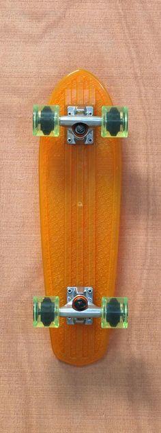 "Globe 24"" Bantam Clears Orange / Lime Skateboard Complete"