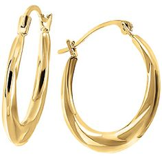Add some classic style to your outfit with these gorgeous 10k gold hoop earrings from Ben Moss Jewellers.
