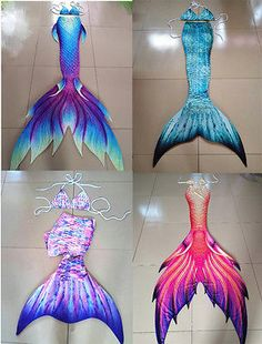 2017 Kids Adult Mermaid Tail With Monofin Vacation Photo Props Cosplay Costume Monofin Mermaid Tail, Diy Mermaid Tail, Silicone Mermaid Tails, Fin Fun Mermaid, Mermaid Tails For Kids, Mermaid Tale, Swimmable Mermaid Tails, Mermaid Costume For Kids, Mermaid Costumes