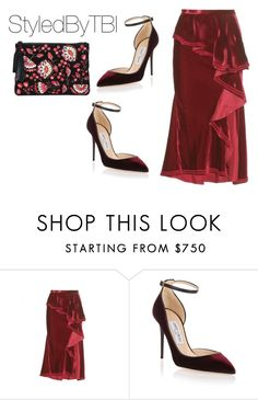 """Untitled #960"" by styledbytbi ❤ liked on Polyvore featuring Givenchy, Jimmy Choo and Loeffler Randall"