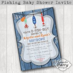 O-FISH-ally Invited Fishing Baby Shower by SmartyPartyDesigns
