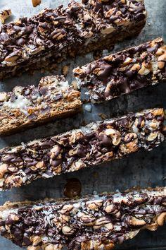 7-Layer Dulce De Leche Oatmeal Chocolate Chip Bars | halfbakedharvest.com @hbharvest
