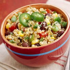 Are you cooking with one of the healthiest gluten free foods on earth? Yes, we are referring to quinoa. Taste these delicious recipes for Asian Stir-Fry, Enchiladas and Quinoa Pizza Crust. Scrumptious, healthy recipes the whole family will love in The New Healthy Cooking, Cooking Tips, Healthy Eating, Cooking Recipes, Breakfast Healthy, Health Breakfast, Eating Clean, Eating Well, Best Side Dishes
