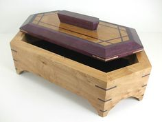 SOLD~Handcrafted Exotic Wood Jewelry Box