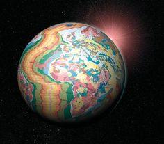 scinexx | Mutter Erde entblößt: Geologie als modernes Kunstwerk