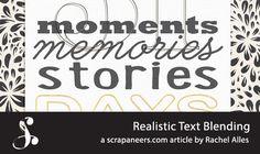 Realistic Text Blending by Rachel Alles