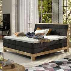 Stylefy Ate Boxspringbett Massiv Dunkelgrün You are in the right place about living room furniture open floor plan Here we offer you the most beautiful pictures about the formal living room fu Mattress Springs, Bed Springs, Living Room Furniture, Living Room Decor, Bedroom Decor, Formal Living Rooms, Living Spaces, Diana, Colors