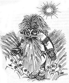 Polewik in Polish mythology is field spirit that appears as a deformed dwarf with different coloured eyes and grass instead of hair. They appear either at noon or sunset and wear either all black or all white suits. According to local beliefs they lead wandering people in a field astray, give them diseases or ride them over with their horses if they are found asleep.