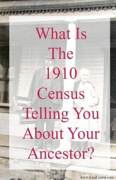 Today we are going to take a closer look at the 1910 census record and I\'ll share with you some of my favorite bits. But here is the important thing I want you to remember: Look beyond the names and dates of birth. What are all of those other columns of information telling you? The PROCESS of analyzing the 1910 census is the same for censuses of other years. Now, let\'s get into my favorite parts of the 1910 census year! #genealogy