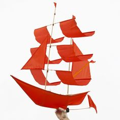 Sailing Ship Kite - flame from Haptic Lab hapticlab.com  could hang in kids bedroom or playroom