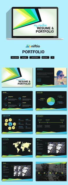 23 best business presentation templates images on pinterest a quick and interesting way to create your resume or skill portfolio try this and it could land you your dream job cheaphphosting