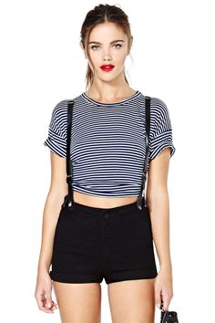 Court James Suspender Shorts | Shop Sale at Nasty Gal
