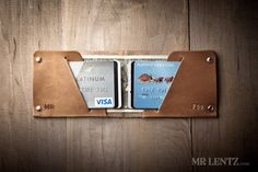 Thin Leather Wallet Mens Leather Wallet Minimal Wallet by MrLentz, $54.00