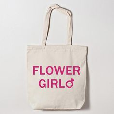 Little flower girls will feel all grown up when you give them this tote bag designed to match the rest of your bridal party! Fill it with stickers, a tiara and