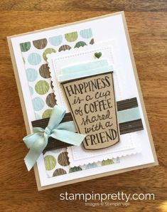 I knew the Stampin' Up! Coffee Cafe Photopolymer Stamp Set and coordinating Coffee Cups Framelits Dies would be a big hit – and they are! They landed on the list of My Favorite Things in the Stampin'