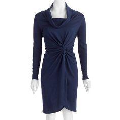 Women's Twist Front Cowl Neck Dress: Women : Walmart.com. I need more formal wear.