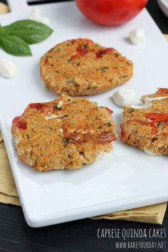 Caprese Quinoa Cakes from @Cassie Laemmli | Bake Your Day