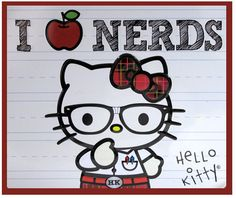 Hello Kitty as a Nerd | link da imagem confiram a historia de como comecou a