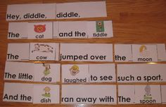 Nursery Rhymes Pocket Chart Activities - Awesome!  Offered for free by Carolyn at the Wise Owl Factory.