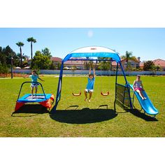 Help develop children's balance and coordination with this heavy-duty playground equipment. Designed for children aged 3-8, it works muscles and helps build arm and leg strength. This play set was created to bring fun and fitness to kids.